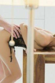 TheWhiteBoxxx: Stunning Ukrainian blonde Nancy A gets cum on ass in sensual quickie