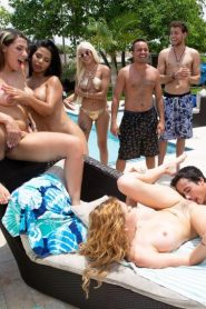 FuckTeamFive – Krissy Lynn, Rose Monroe, Valentina Jewels, Nickiee – Pool Side Fuck Fest